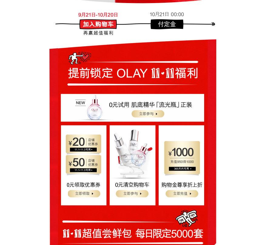 天猫Olay官方旗舰店 双11活动早知道-88特价